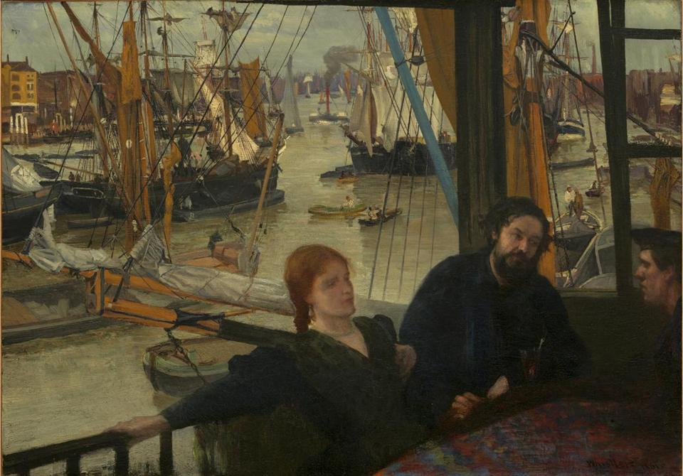 "James McNeill Whistler's ""Wapping"" is on view in ""An American in London: Whistler and the Thames,"" at Addison Gallery of American Art through April 13."