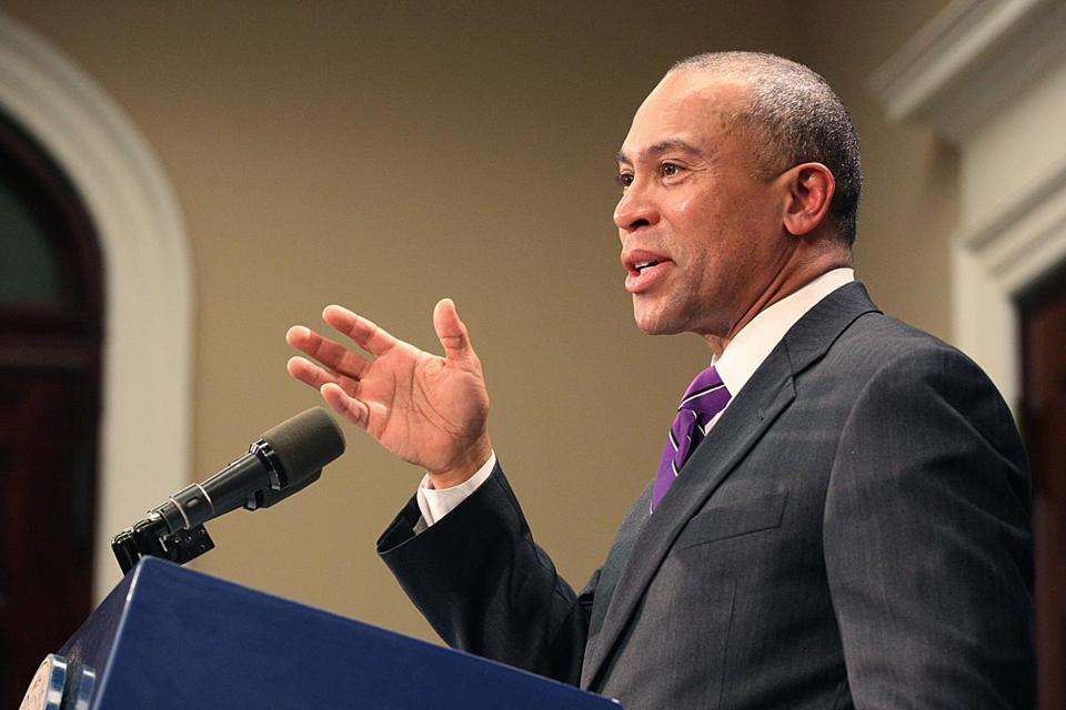 Governor Patrick  spoke Monday about the ongoing independent review of the Department of Children and Families.