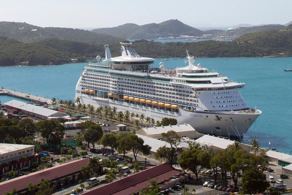 Health officials boarded the 15-deck Royal Caribbean International ship Sunday in the US Virgin Islands.