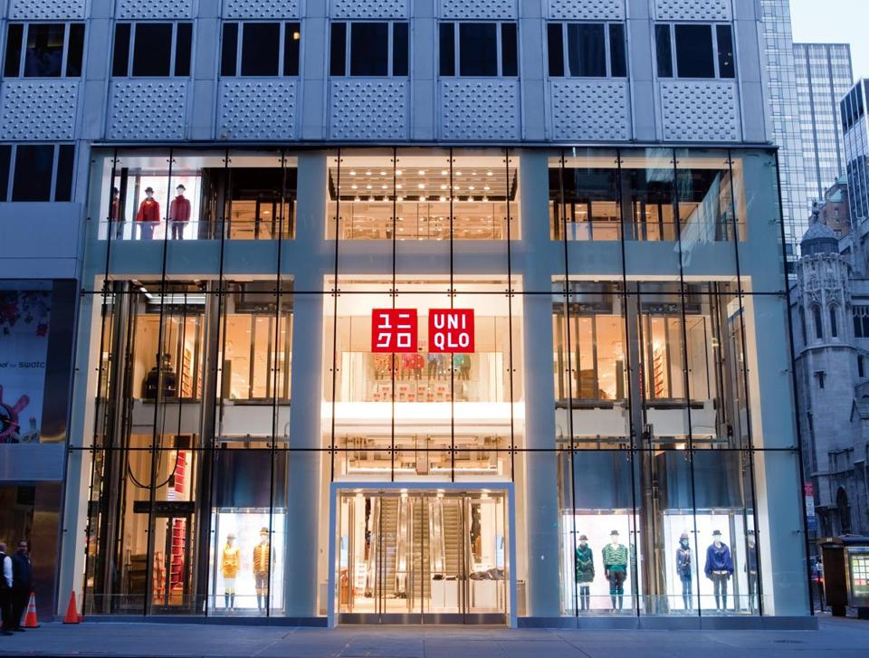 Uniqlo's 89,000-square-foot New York store (above) is on Fifth Avenue. Where the chain will eventually sell its clothes (top) in Boston remains a mystery.