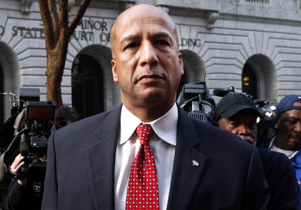 Ray Nagin arrived at the Hale Boggs Federal Building in New Orleans, Monday, Jan. 27, 2014.