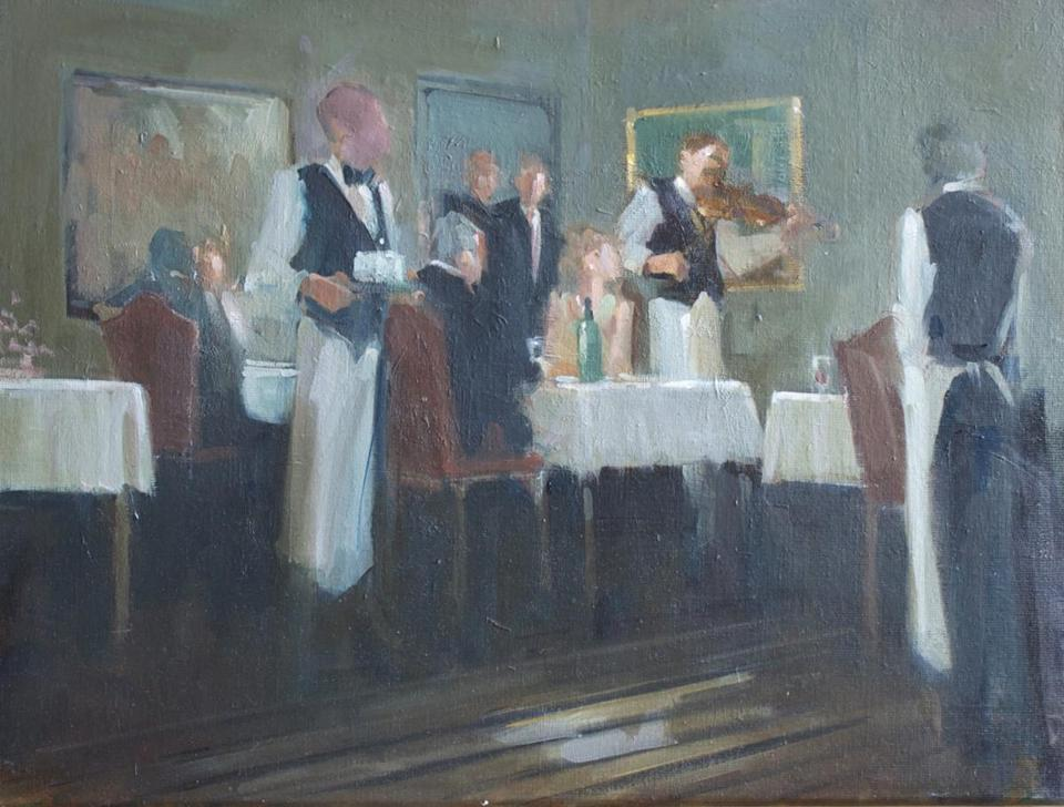 """Birthday Serenade,"" by James Kubiatowicz, at the Walsingham Gallery in Newburyport."