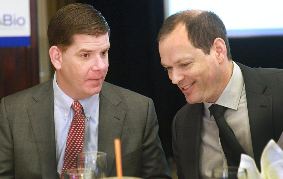 Mayor  Walsh spoke at a MassBio event.