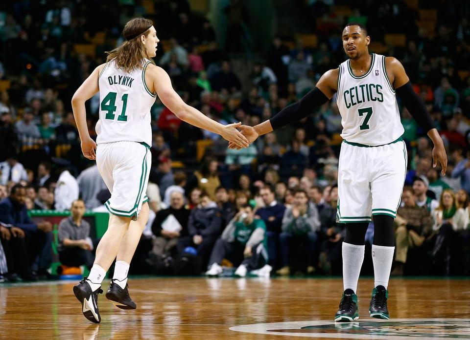Kelly Olynyk (41) and Jared Sullinger will represent the Celtics in the Rising Stars Challenge, which will take place during All-Star Weekend next month.