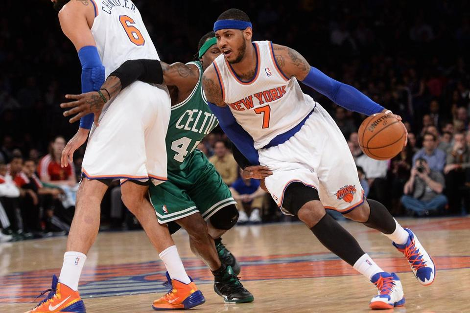 The Knicks had five players score in double figures, led by 24 points from Carmelo Anthony.