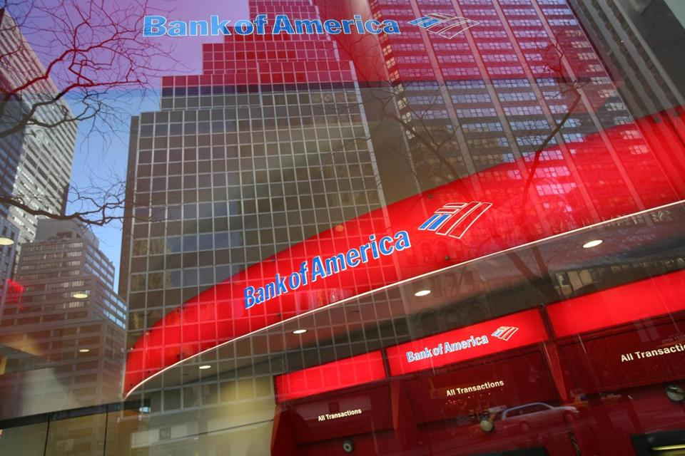 A Bank of America branch office is shown in New York.