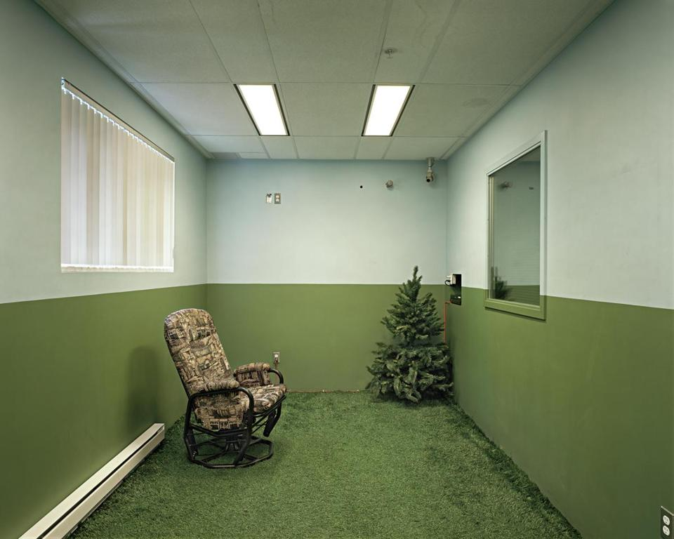 "Photographs by Lynne Cohen in her ""False Clues'' show include ""Untitled (Astroturf)."""