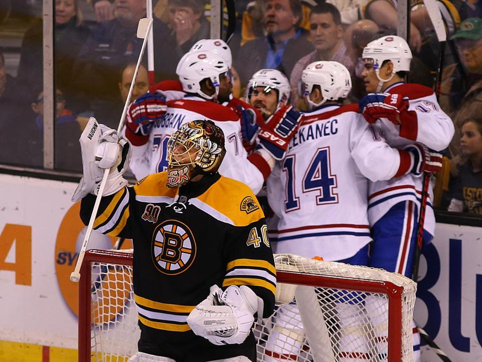 Brian Gionta's second-period goal led to Tuukka Rask's early departure.