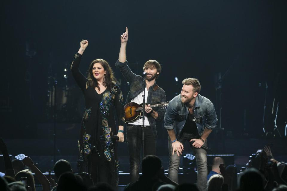 Lady Antebellum were the headliners at a concert last month at the TD Garden.