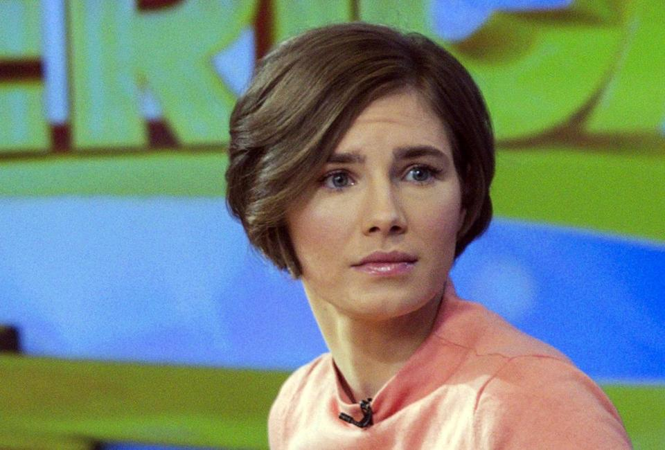 "Amanda Knox was interviewed on the set of ABC's ""Good Morning America."""