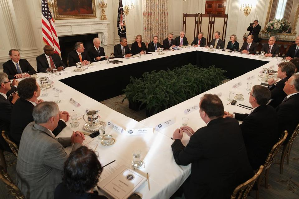 President Obama met with CEOs and small business owners to deliver a message about hiring the long-term unemployed.