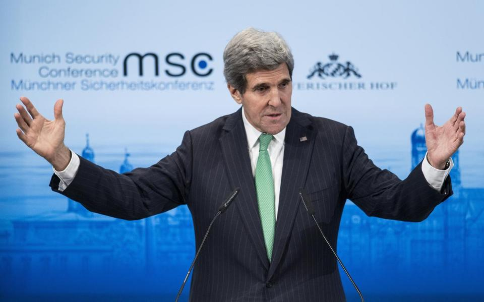 Secretary of State John Kerry spoke at a security conference in Munich on Saturday.