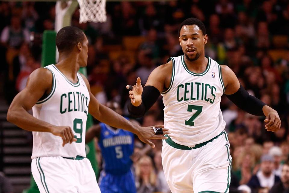 Jared Sullinger (right) posted game highs of 21 points and 12 rebounds in the Celtics' 96-89 win over the Magic.