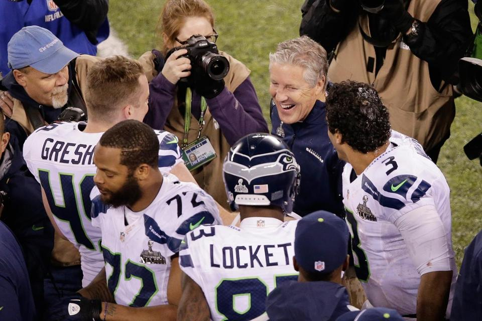 Pete Carroll and The Seahawks won their first Super Bowl title Sunday night in overpowering fashion.
