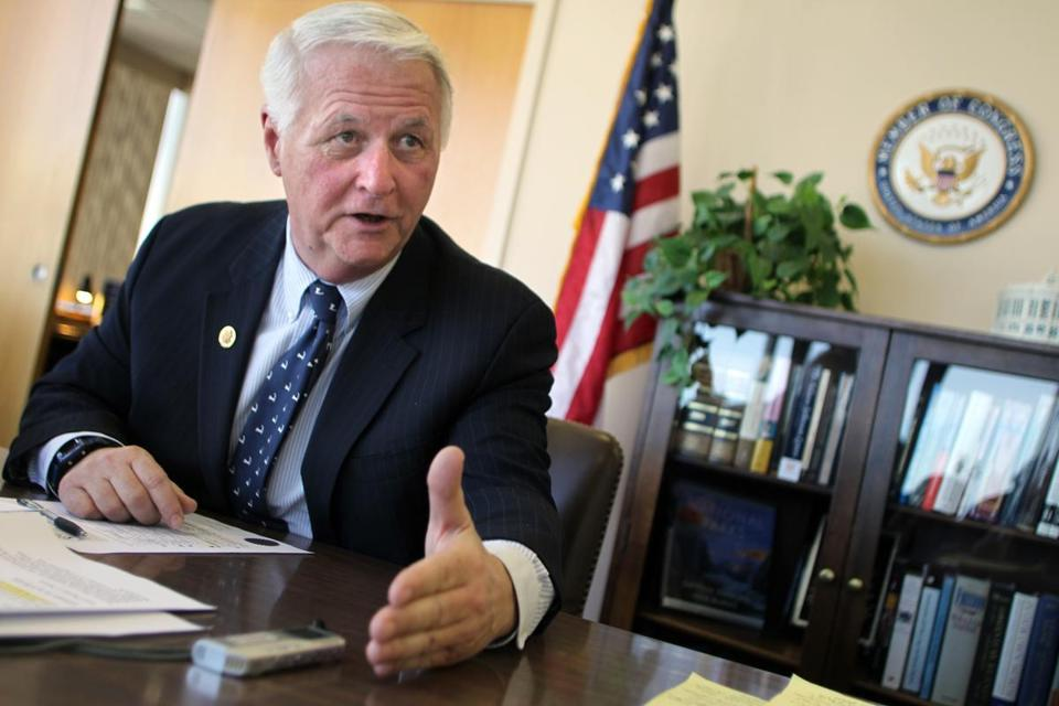 Former US Representative William Delahunt wants state regulators to issue him coveted licenses to run three medical marijuana facilities.