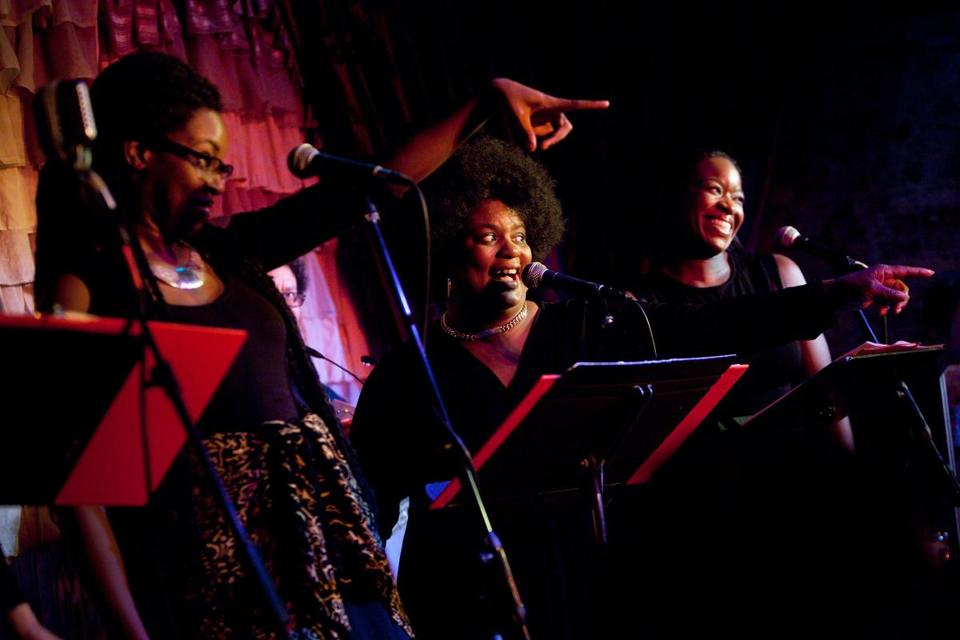 From left: Deborah Pierre, Valerie Houston, and Crystin Gilmore at the Beehive.