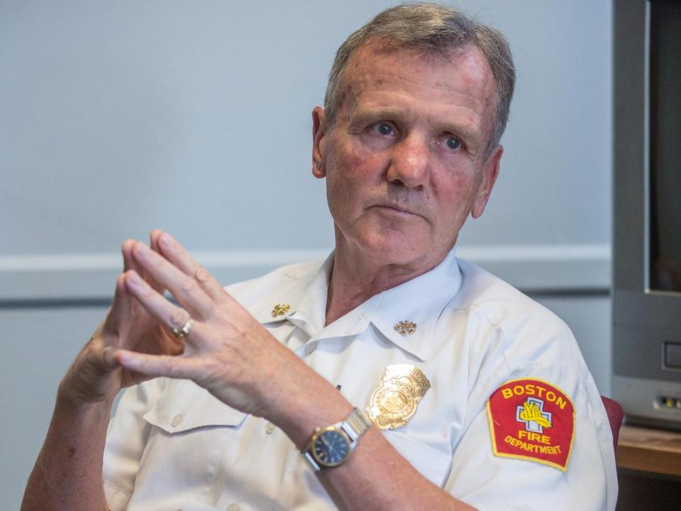 Acting Fire Commissioner John Hasson was a deputy chief.
