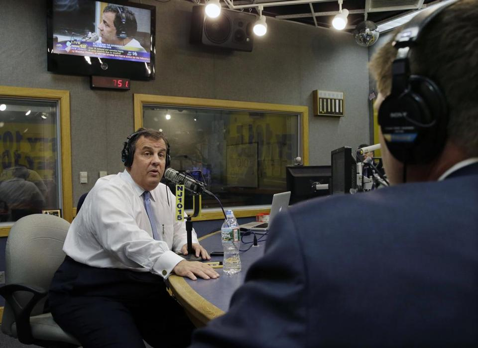 New Jersey Governor Chris Christie was interviewed and answered questions on radio Monday.