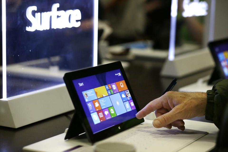 Microsoft has a mountain of cash, but was slow to react to Internet search and mobile. Above, its tablet computer.