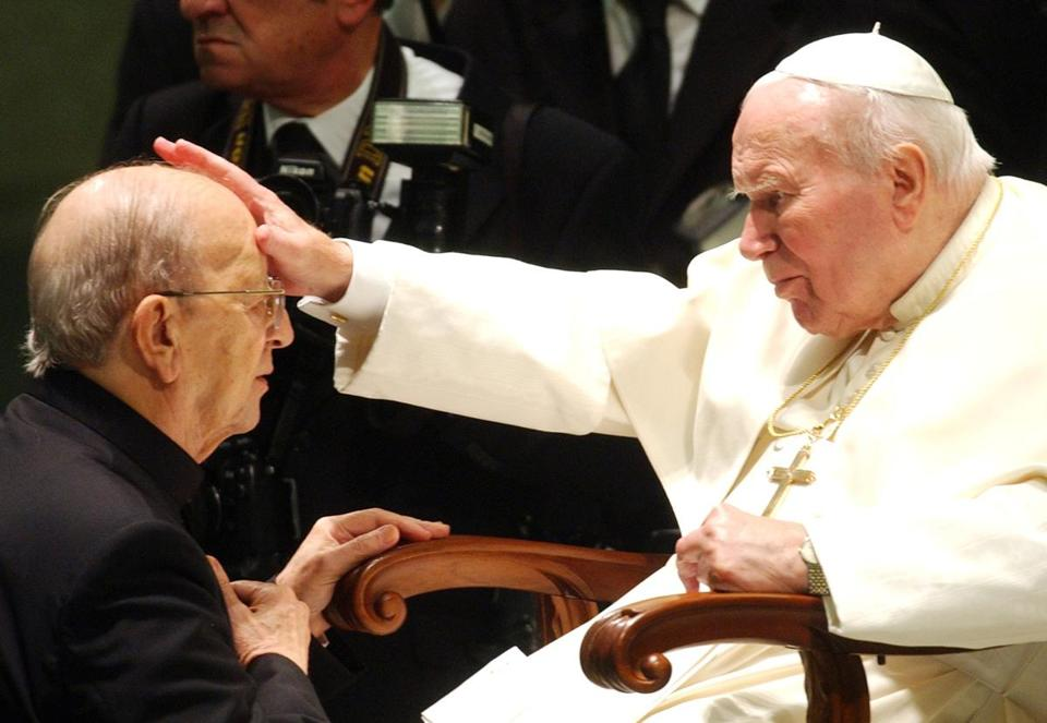 Pope John Paul II blessed the late Mexican Fr. Marcial Maciel Degollado, founder of the Legionaries of Christ, in 2004.