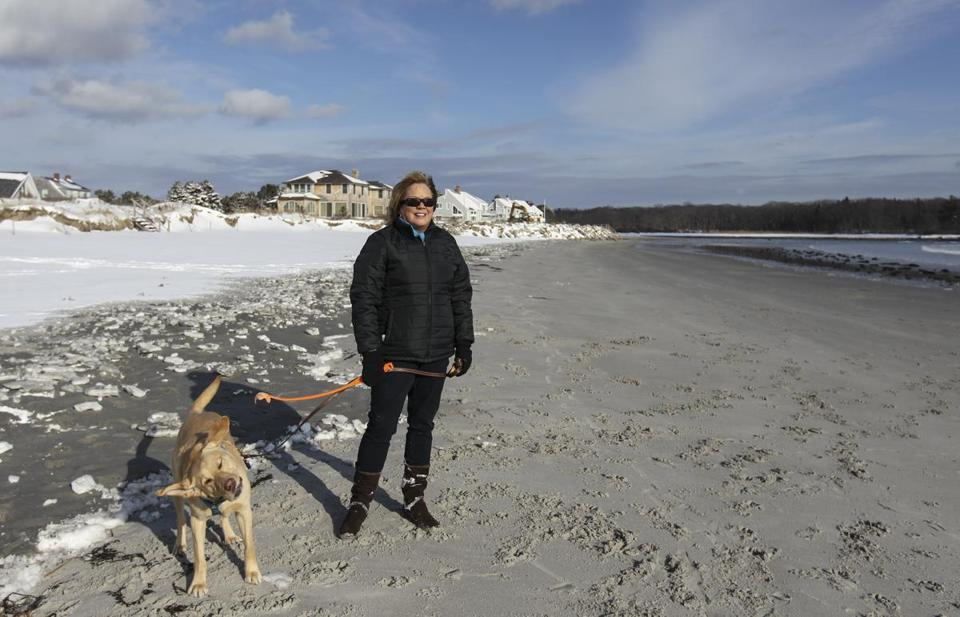 Pam Reynolds, 57, says it's heart-wrenching that owners of private property will now be able to bar the public from Goose Rocks Beach in front of their homes.