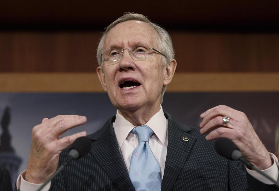 Senate Majority Leader Harry Reid said were thwarting Democratic efforts to pass a bill to extend unemployment benefits.