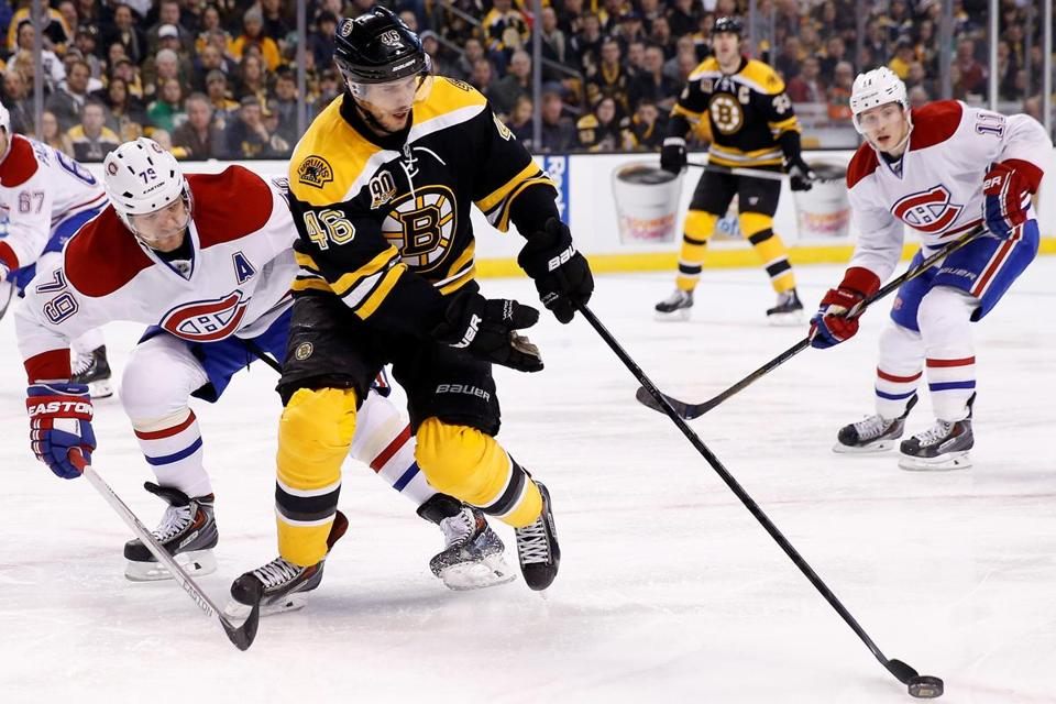 David Krejci, with 47 points, is the Bruins' leading scorer.
