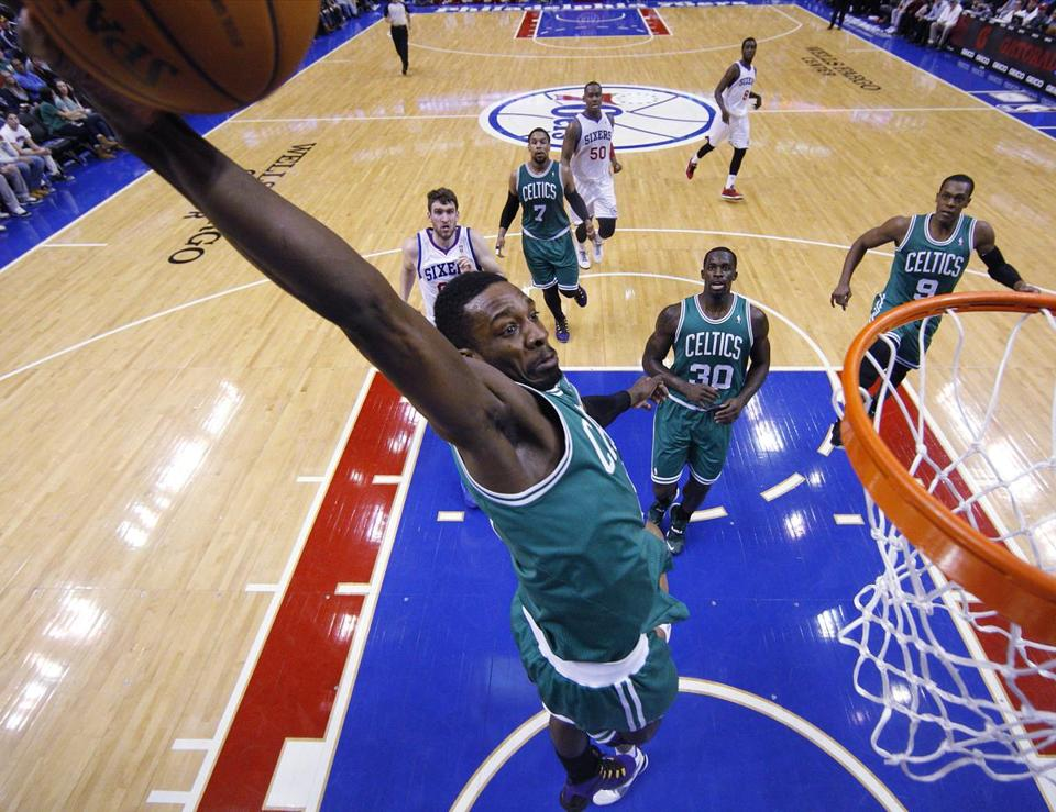 Jeff Green went for a dunk in the first half.