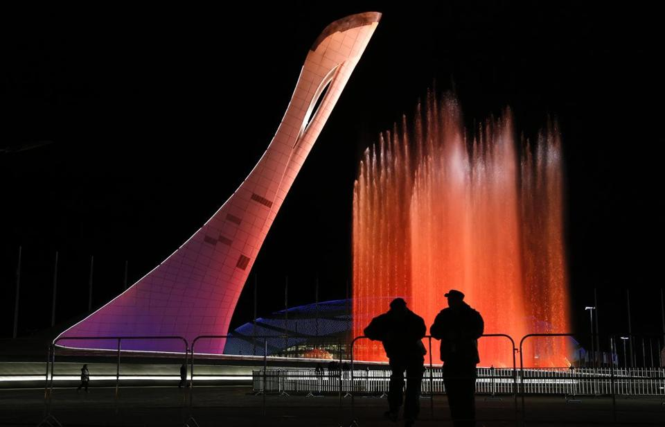 The Olympic cauldron in Sochi will be lit on Friday to officially open the Winter Games. (AP Photo/Julie Jacobson)