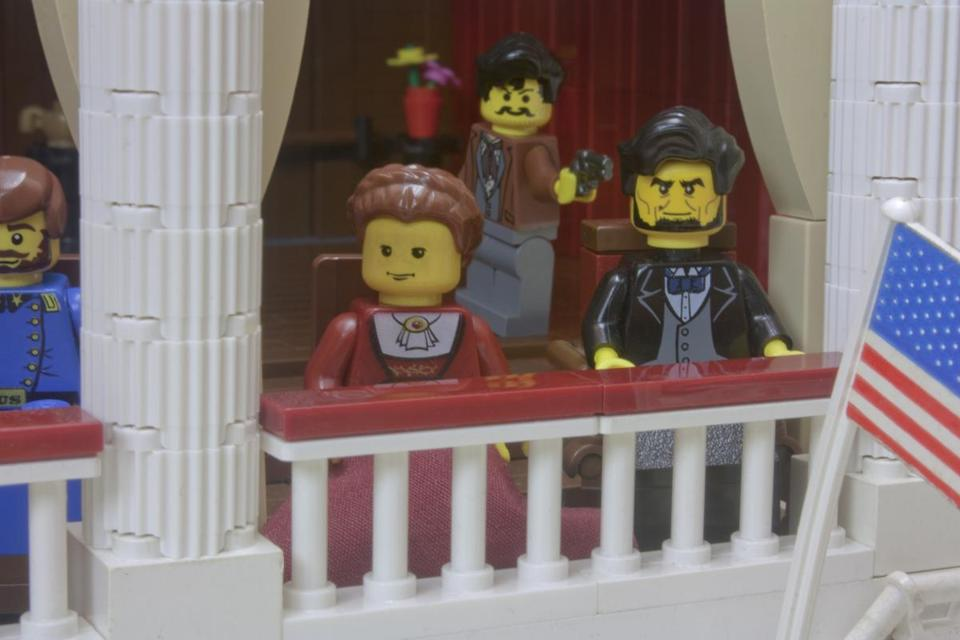 "Brendan Powell Smith's book ""Assassination!"" details attempts on the lives of presidents, like Abraham Lincoln, using LEGOs."