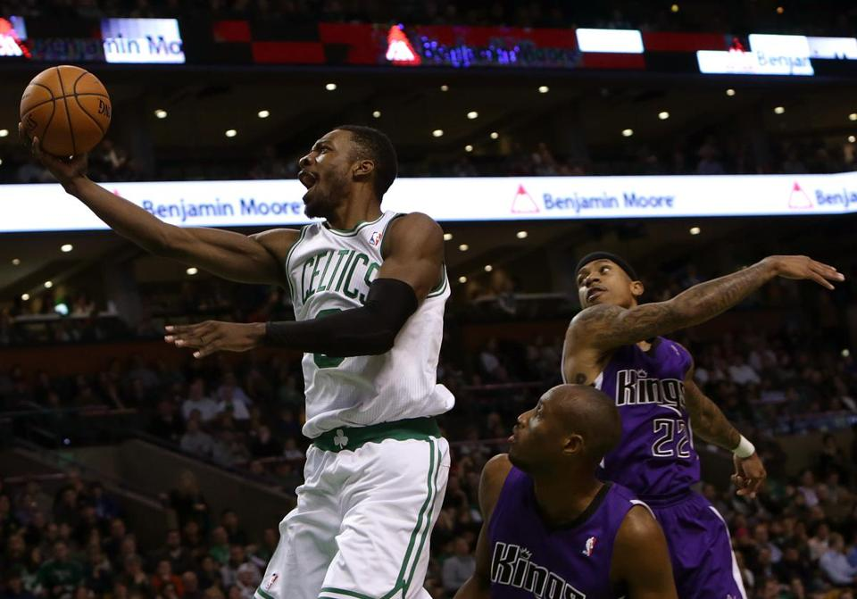 Celtics forward Jeff Green left two Kings in his wake, but he missed the layup and was 6-of-20 shooting for 17 points.