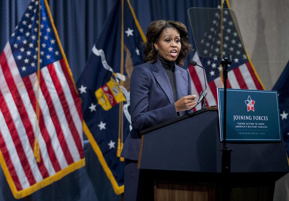 "Michelle Obama said the construction firms' commitment is ""about providing our companies with the very best workers.''"