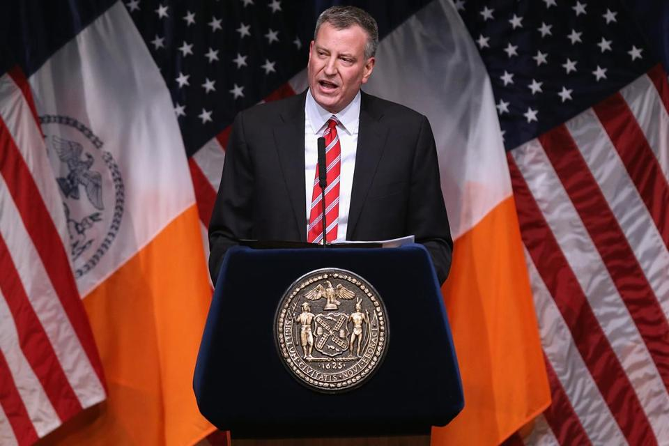 Bill de Blasio, mayor of New York City, pushed for higher taxes on the rich to fund prekindergarten programs.