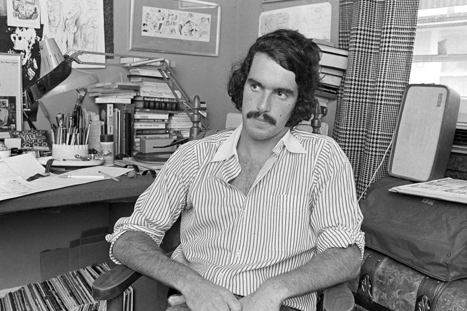 Trudeau in 1972, two years into his comic strip's syndication run.