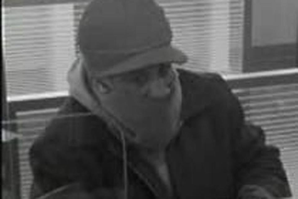 The FBI provided an image of the bank robber. Up to $12,000 is being offered.