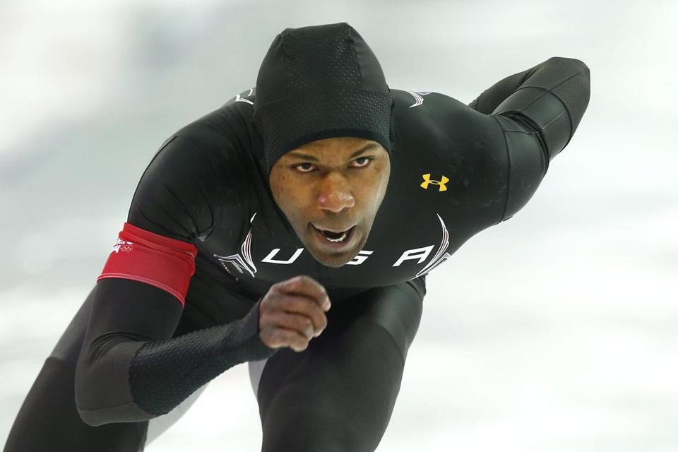 Shani Davis finished eighth in the men's 1000 meter speedskating event.