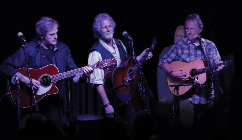 From left: John Jorgenson, Chris Hillman, and Herb Pedersen of the Desert Rose Band.