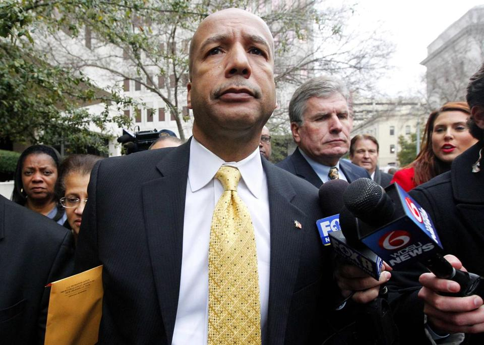 Ray Nagin left the courthouse after being found guilty on Wednesday. His sentencing is scheduled for June 11.