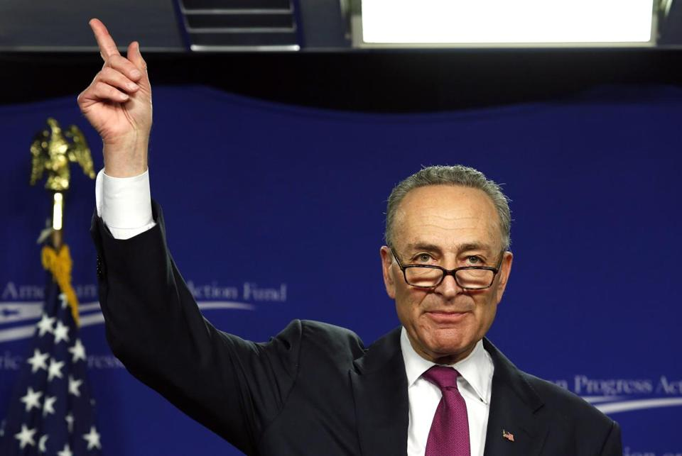 "Senator Charles Schumer, a Democrat from New York, accused House Republicans of trying to ""sweep this issue [of overhauling immigration laws] under the rug."""