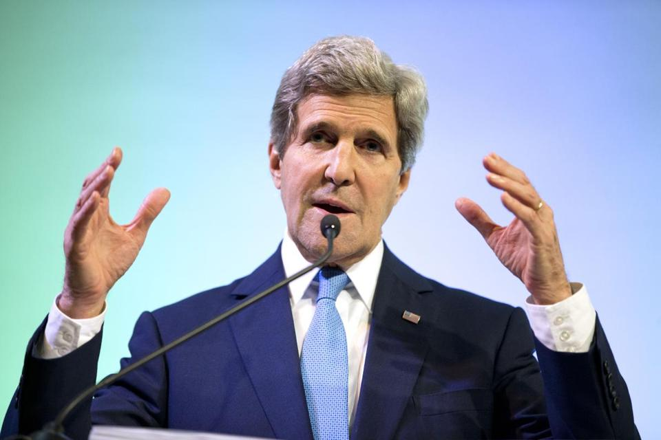 ''We simply don't have time to let a few loud interest groups hijack the climate conversation,'' Secretary of State John Kerry said.
