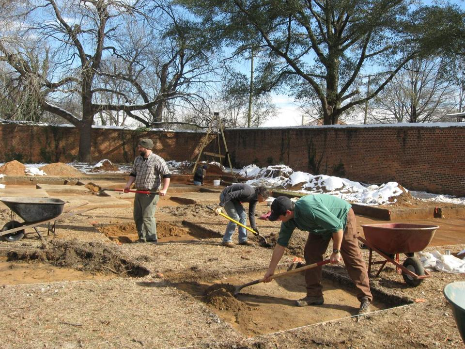Crews excavated the site of a Civil War-era prison that once held 1,500 Union officers in Columbia, S.C. in January.