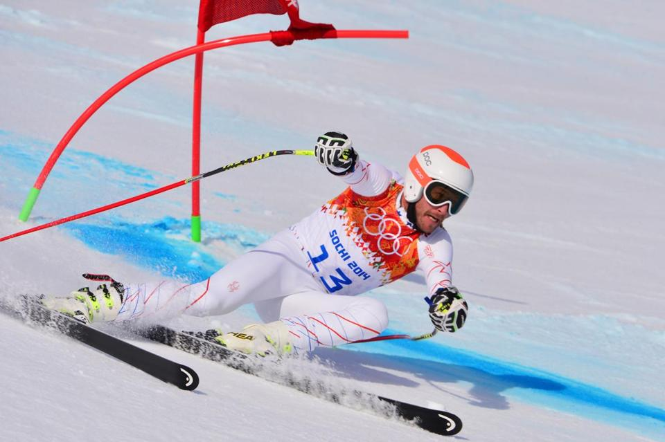 Bode Miller tied for third in the men's super-G.