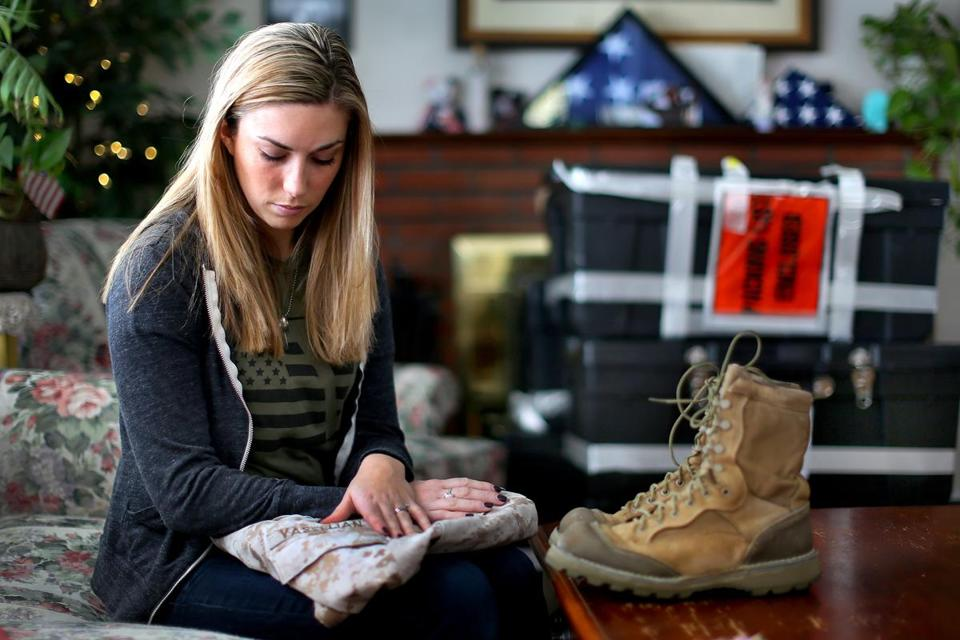 Erin Vasselian learned of the death of her husband, Daniel, two days before Christmas. His gear fills her home.