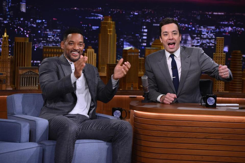 "Will Smith was a guest on Jimmy Fallon's first show as host of ""The Tonight Show."""