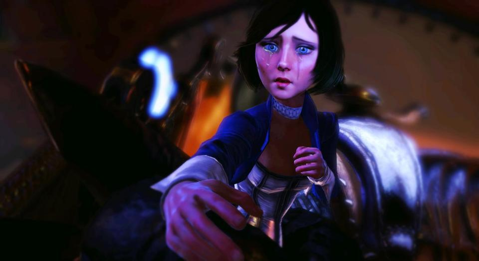 "The character Elizabeth  is seen from the video game ""BioShock Infinite."""