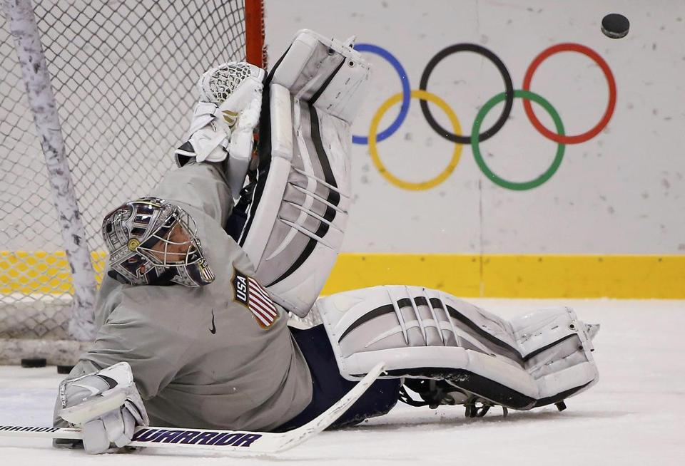 US goaltender Jonathan Quick wasn't just getting his kicks at practice Tuesday; he was warming up for his start against the Czech Republic Wednesday.