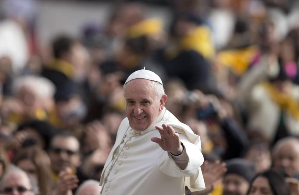 Pope Francis arrived for his weekly general audience in St. Peter's Square on Wednesday. Boston Mayor Martin J. Walsh is making a push for the pontiff to visit here, but Cardinal Sean O'Malley previously expressed doubt over the likelihood of a Boston papal visit.