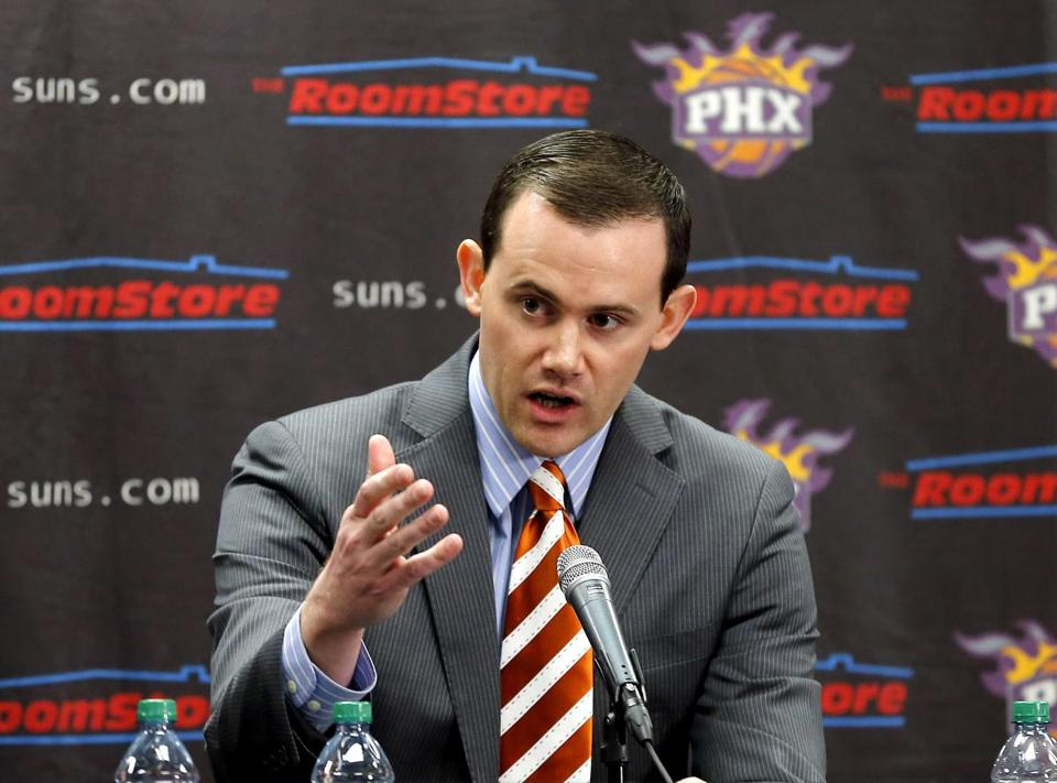 Suns general manager Ryan McDonough, who used to work for the Celtics, has his club on the rise.