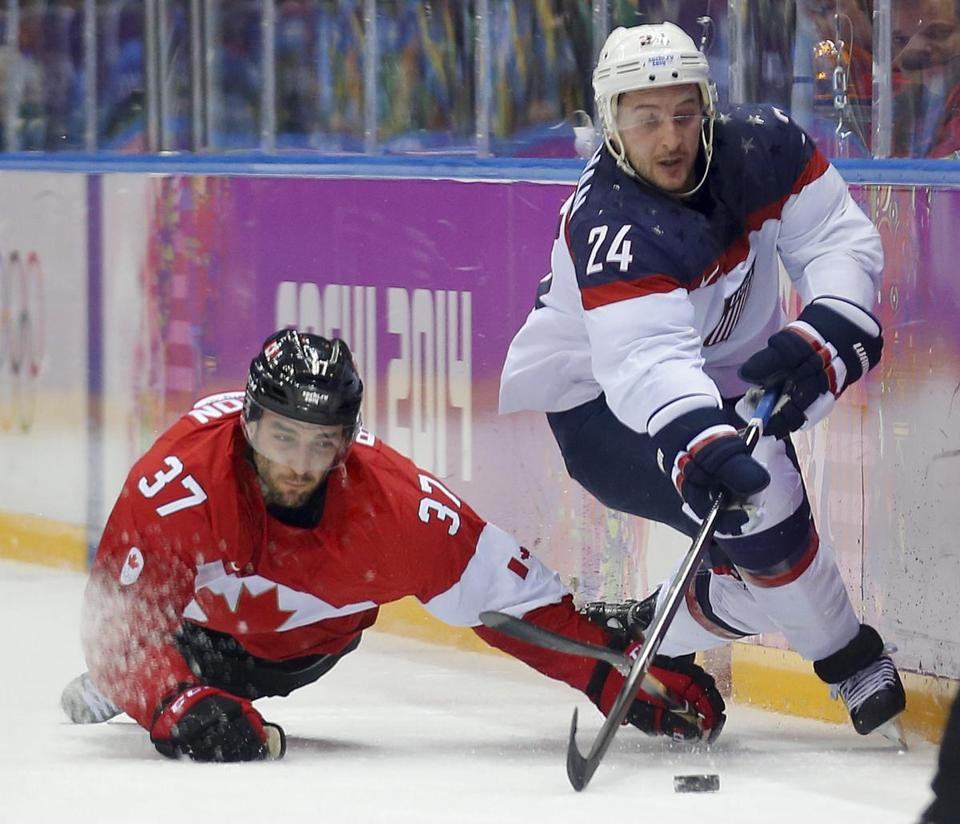 Canada edged the US men's hockey team in Friday's game.