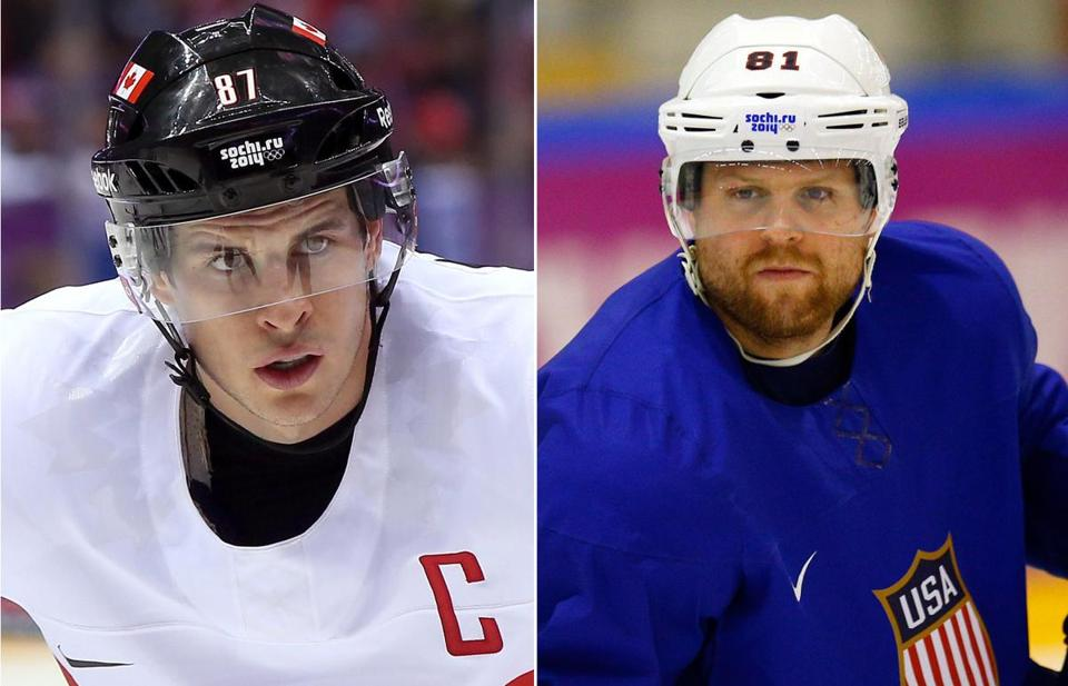 Sidney Crosby and the Canadians will face off against Phil Kessel and the Americans on Friday.